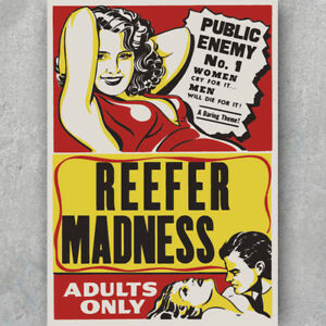 Retro Art Decor Print Anti Weed Propaganda MARIJUANA A3 A6 Vintage POSTER