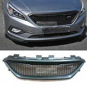 Image Is Loading Honeycomb Hood Radiator Grille Unpainted For Hyundai 2017