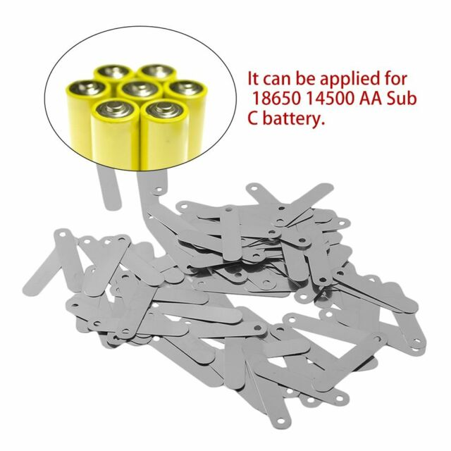 100pcs/set Conductive 2.5*0.5CM Solder Tab For 18650 Rechargeable Battery Rv