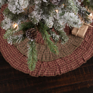 image is loading new primitive country burgundy check homespun plaid christmas