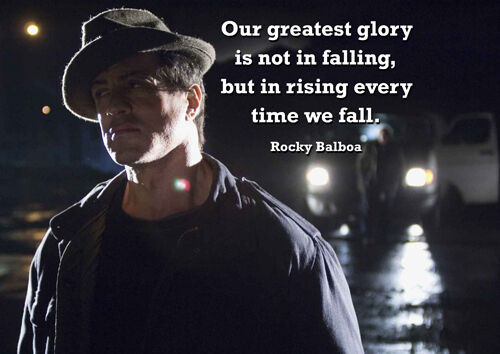 Rocky Balboa Hat 4 Motivation Boxing Greatest Glory Picture Movie Quote Poster