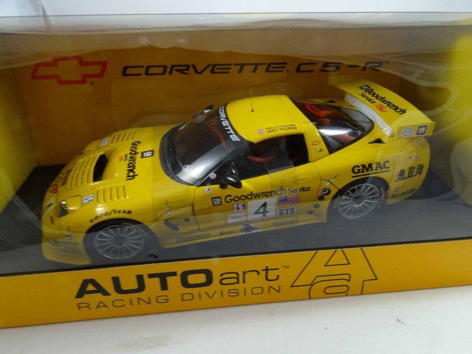 1 18 Autoart  80207 CHEVROLET CORVETTE CSR 2002 ALMS Road  4 - RARE §