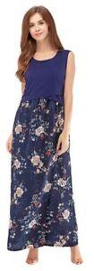 Borstvoeding borstvoeding lange moederschap 16 Prints jurk Elegante uk8 bloemenprint EFUqwnnxp