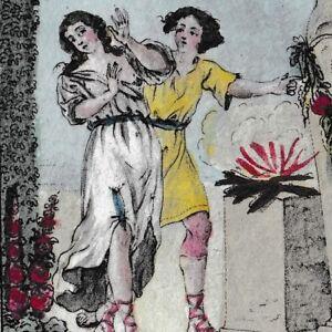 Gravure-XVIIIe-Priape-Priapus-Dieu-Fertilite-Ithyphallique-Priapos-1793