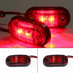 4Pcs 12V/24V LED Seitenmarkierungsleuchte Lampe fuer ...
