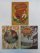Lot of 3 TREASURE CHEST OF SONGS Books World-Wide Stephen Foster & Cowboy Songs
