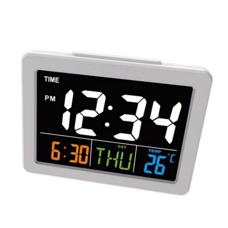 Large Digital Jumbo LED Wall Desk Alarm Clock Display Calendar Temperature