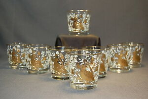 Crown-Collection-by-Libbey-PARTRIDGE-9OZ-Old-Fashioned-Barware-8PC-NIB