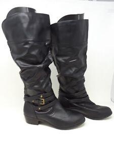 ecbd28d2e57 NEW w  defect! Bongo Women s Peyton Wide Width Fashion Boots Blk ...