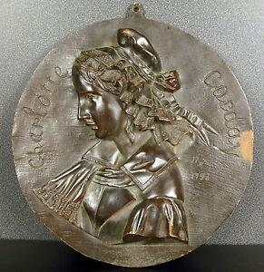 Médaillon Révolutionnaire Charlotte Corday D'armont Assassine Marat Jl Elshoecht Nouveau Design (En);
