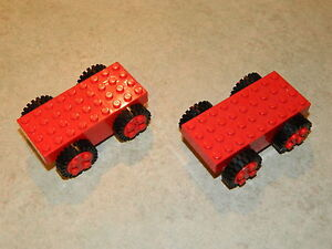 LEGO-vintage-Basic-818-Pull-back-motor-x2-Chassis-Voiture-Base-Freestyle-reculons