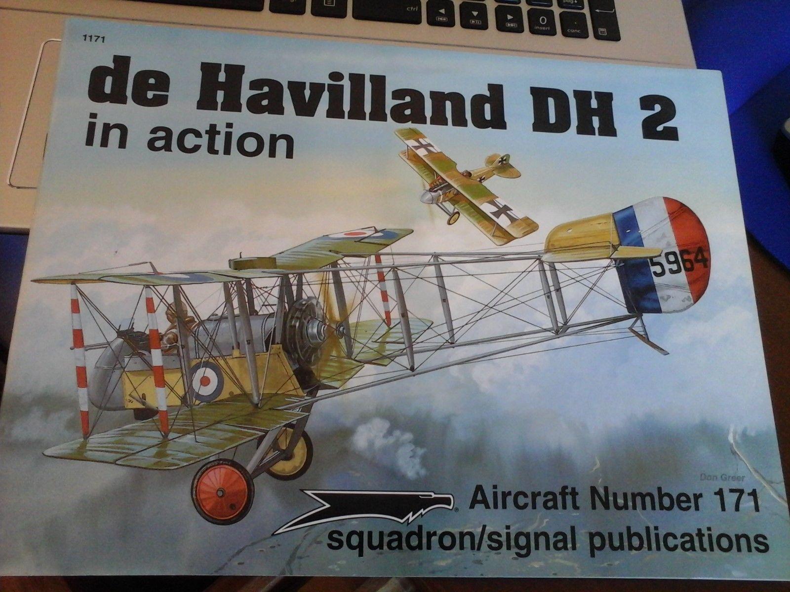 ¡No dudes! ¡Compra ahora! DE HAVILLAND DH DH DH 2-SQUADRON SIGNAL IN Acción N.171-BY DON verde  perfecto