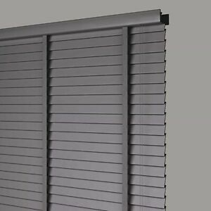 50mm-Slat-Real-Hard-Wood-Venetian-blind-105-wide-x-160-CHARCOAL-GREY-with-Tapes