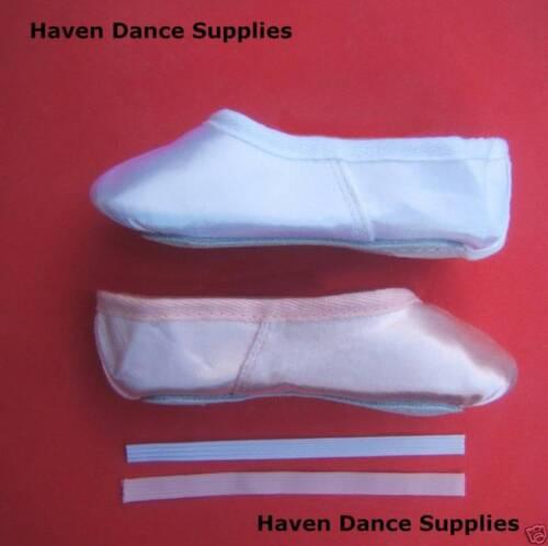 Satin ballerines *** Nouveau *** toutes les tailles blanc ou rose