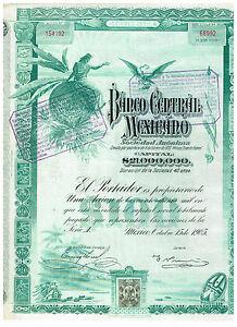 Banco-Central-Mexicano-Mexico-1905-uncancelled-coupons