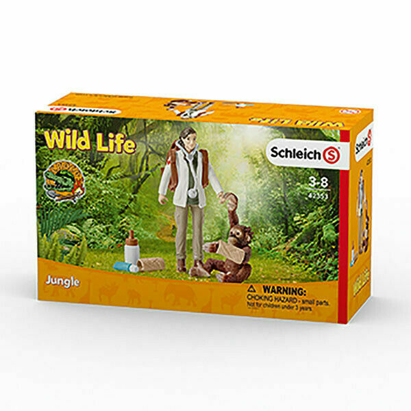 Schleich 42353 Wild Life Vet At Work Toy