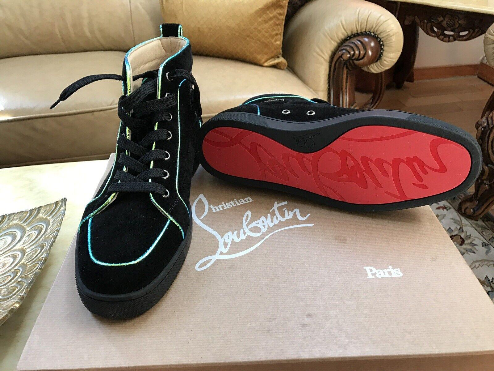 Christian Louboutin Men's scarpe da ginnastica Suede Dimensione 9