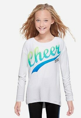 Justice Girls Size 14-16 Long Sleeve Raglan Tee New With Tags
