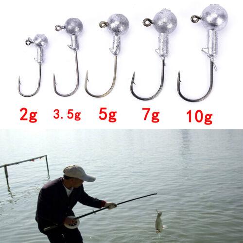 20pcs//lot 2g 3.5g 5g 7g 10g lead jig head hook lure bait carp fish worm hook  FC