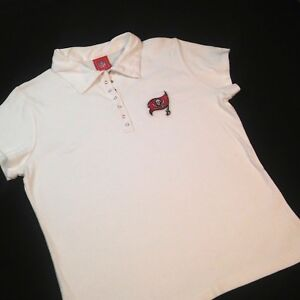 Tampa Bay Buccaneers Women XL Polo Shirt White Extra Large Cap ... 4294f1003