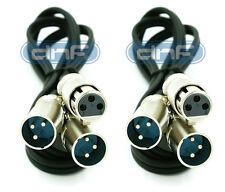 2 Pack 3 FT XLR 3-Pin Female Plug to 2-XLR Male Y Splitter Cable 1 FEMALE 2 MALE