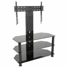 Spar Glass And Metal Tv Stand For Tvs Up To 65 Ebay
