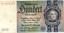 1935  NAZI Germany 100 Reichsmark Banknote SWASTIKA