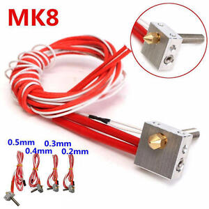 3d printer extruder hot end heat block thermistor ceramic heater rh ebay com Block Phone 66 Block Color Code