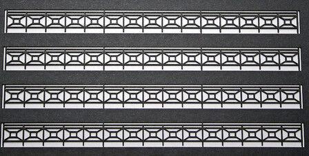 Modello Ferrovie Unione mu-h0-l00003 h0 ferro ringhiera Lasercut