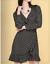 Womens-Ladies-Wrap-Dress-Ruffle-Frill-Dress-Black-white-spot-John-Zack thumbnail 4