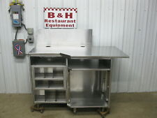 57 Stainless Steel Heavy Duty Kitchen Cabinet Work Prep Table