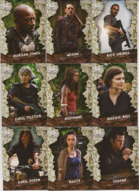 Topps The Walking Dead Season 8 Part 1 Rivalries 7 Card Chase Insert Set