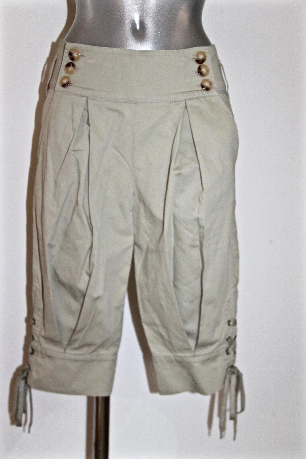Adorable Three Quarter Pants Apron Lace Sportmax Max Mara T 36 Fr I38 as Enuf
