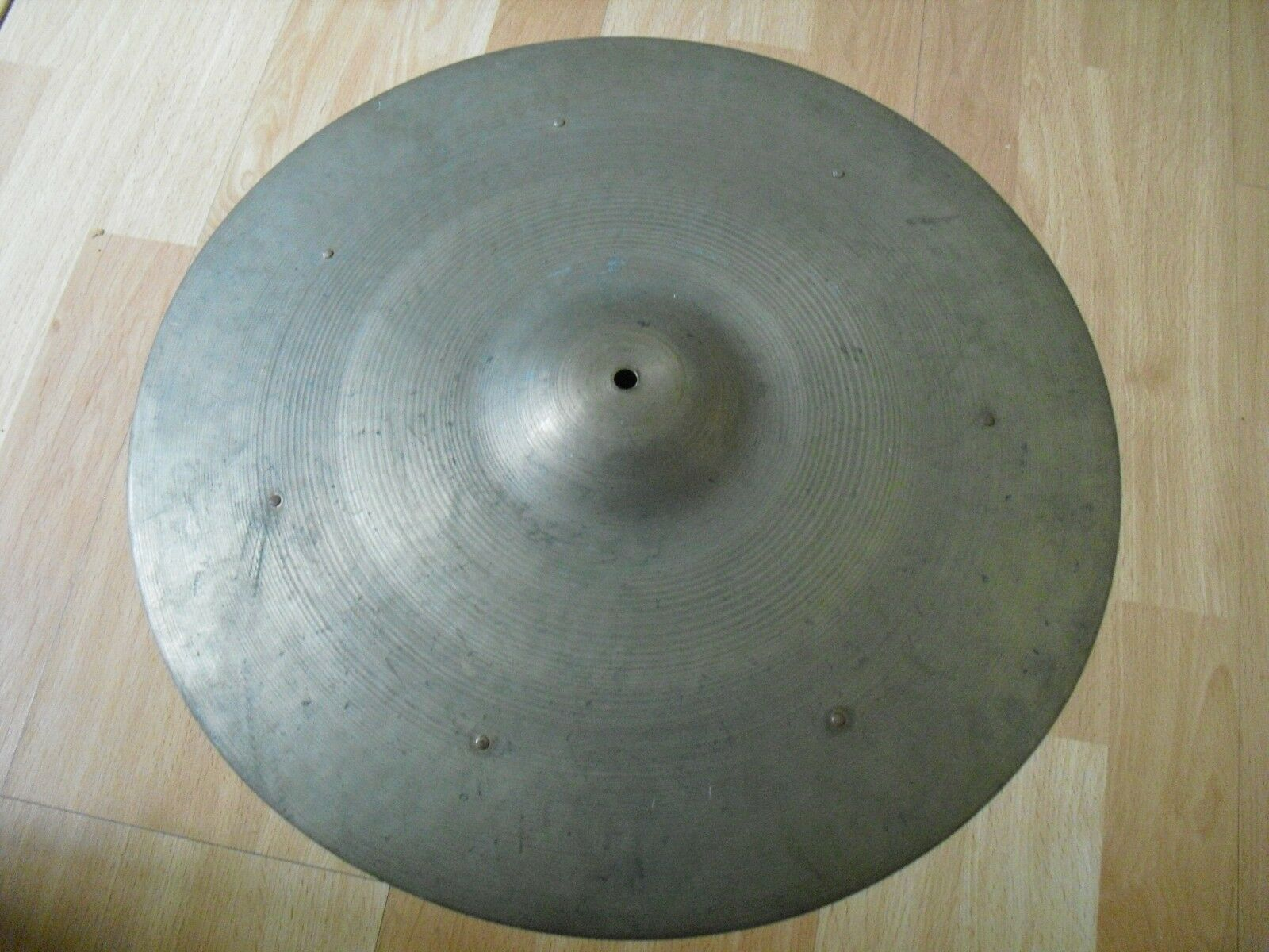 20  Vintage 40s Trans Stamp Avedis Zildjian Sizzle Ride Cymbal 2380g