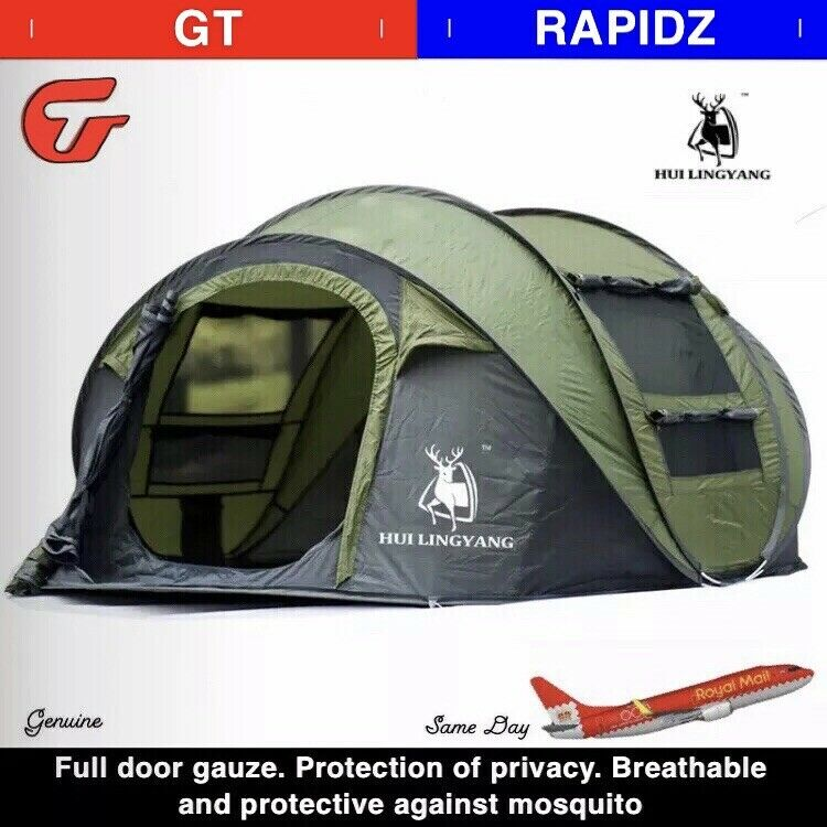 Grote tent 4 mannensen Auto Gooi Tent Buitenshuis Auto WaterBesteendige Camping GROEN