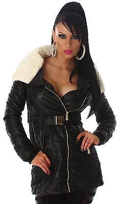 Jacke Fellkragen abnehmbar weich Winter Mantel Damen Outdoor Jacke Neu Größe