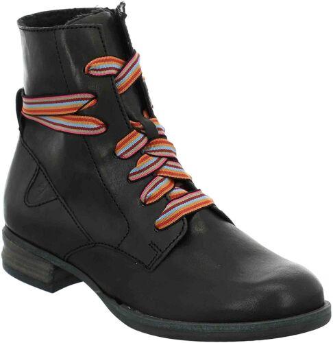 Josef Seibel Women/'s Sanja 04 Leather Ankle Boots Black