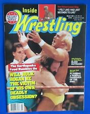 1991 INSIDE WRESTLING Magazine Mar VGN Jake Roberts Stan Hansen Earthquake