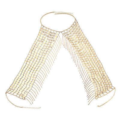 Women Metal Tassel Chain Body Chest Bikini Jewelry Waist Harness Beach Dancer