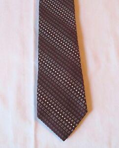 Brooks-Brothers-Men-039-s-Silk-Necktie-Brown-Geometric-pattern-57-3-8-034-X-31-4-034