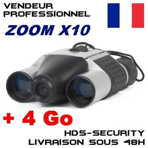 DT08 JUMELLES CAMERA ESPION + MICRO SD 4 GO GB DT-08 ZOOM X10 JUMELLE 16MM 1Km