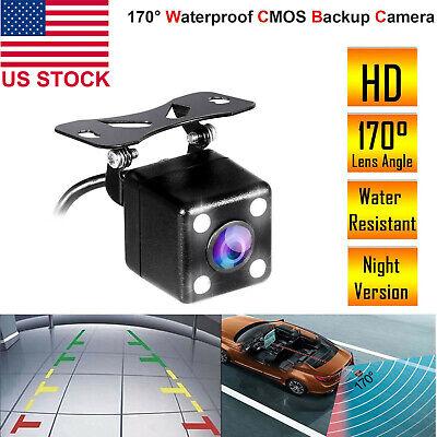 170° Night Vision Auto Car Rear View Reverse Backup Camera HD Parking Waterproof