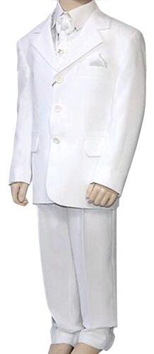 White Suit 4 Piece Suit, Holy Communion Boys Wedding Suit Boys Suit