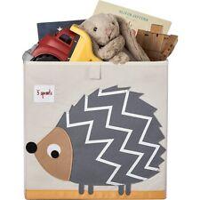 """3 Sprouts"" Storage Box- Grey Hedgehog | Adorable Toy Storage Box"