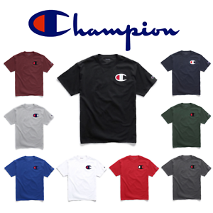 Authentic Champion Men S Jersey Big C Logo Short Sleeves T Shirt
