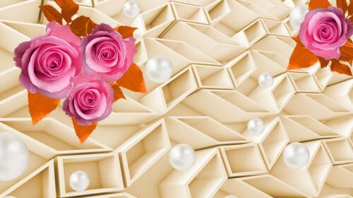 3d de roses Orchidée Perle Boules 2110 V Nappes Papier Peint-Abstrait Design