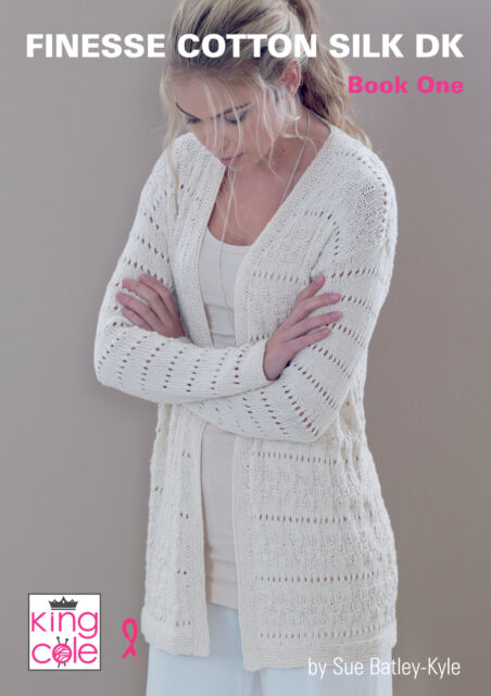 293fec109241 King Cole Finesse Cotton Silk DK Double Knitting Book 1 Womens ...