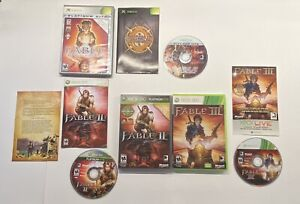 Fable: The Lost Chapters Xbox , Fable 2 & Fable 3 Xbox Xbox 360 Lot 3 Game Lot!!