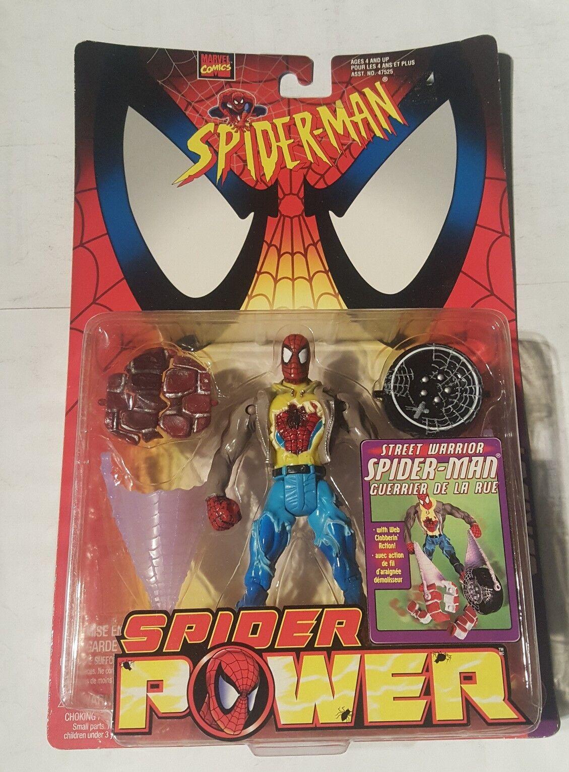 alto descuento Spider-Man Spider-Man Spider-Man Spider potencia 1998 Street Warrior Figura De Acción-canadiense  minorista de fitness