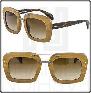 7c82fe07beb5 Image is loading PRADA-RAW-Baroque-Wood-Canaletto-Sunglasses-Walnut-Brown-